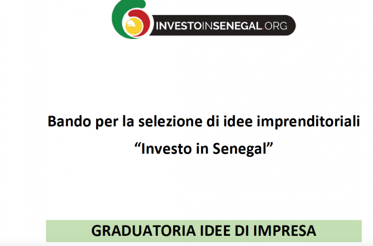 Graduatoria Idee Imprenditoriali